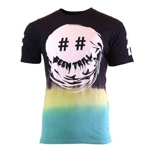 Men's Been Trill Dipped Smirk T-Shirt Black Size L